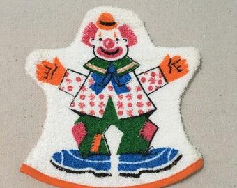 Vintage Terry Cloth Clown Bath Mitt
