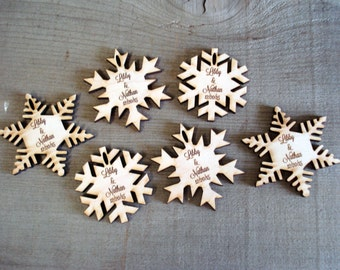 50 Snowflake Wedding Favors Winter Fantasy Winter Wedding