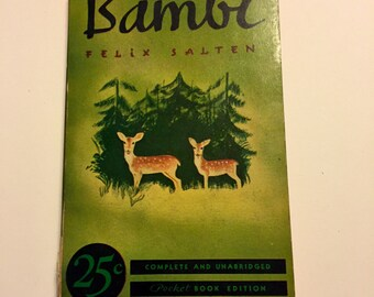 Bambi Felix Salten complete and unabridged pocketbook edition 1939