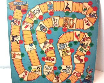 VIntage Circus Game Board nursery child room decor wall decor