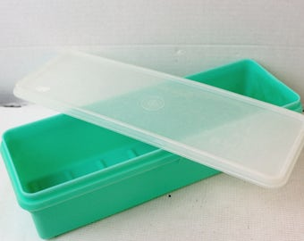 Vintage Tupperware food storage container light green