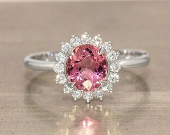 The Basilica Ravenna Pink Purple Tourmaline Ring in 18k White Gold R4001-131W8