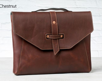Valet Luxury Laptop Bag for MacBook Pro 15 - Chestnut