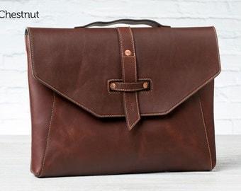 Valet Luxury Laptop Bag for MacBook Pro 15 - Chestnut