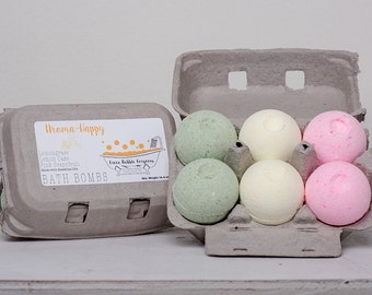 Bath Bombs, Aroma Happy, made with essential oils by Green Bubble Gorgeous on etsy