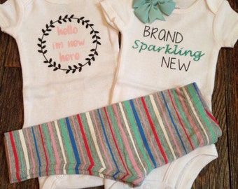Newborn set - Brand sparkling new & Hello l'm new here