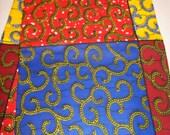 Ankara Patchwork Style Wax African Fabric per yard, Real Wax print fabric/ Fabrics for African clothing /African Designer fabrics