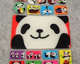 Mixed Cute PVC Panda Stickers