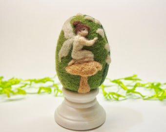Needle Felted Egg - Lily Fairy - Easter Egg