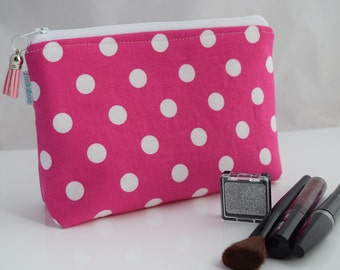 Pink Makeup Organizer, Gift for Her, Handmade, Ready to Ship, Zookaboo