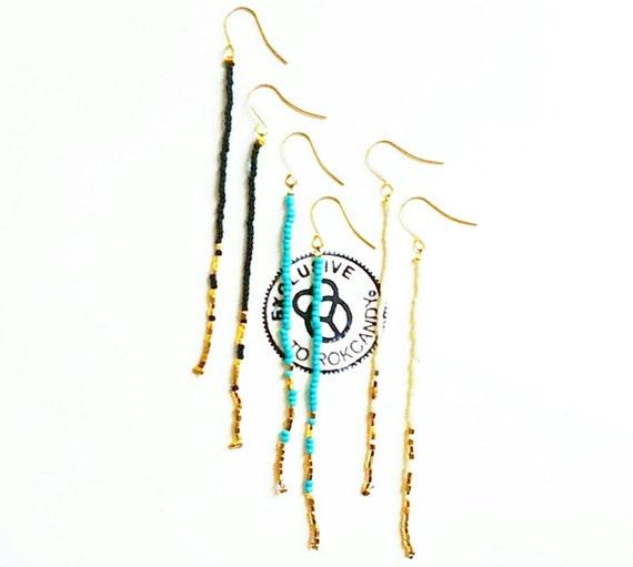 Pixistick earrings, rokcandyearrings, longearrings, dangleearrings, nativeamerican earrings, turquoiseearrings, giftsforher, editorspick