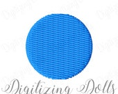 Small Tiny Circle Dot Solid Fill Machine Embroidery Design .25 inch .5 inch .75 inch 1 inch INSTANT DOWNLOAD