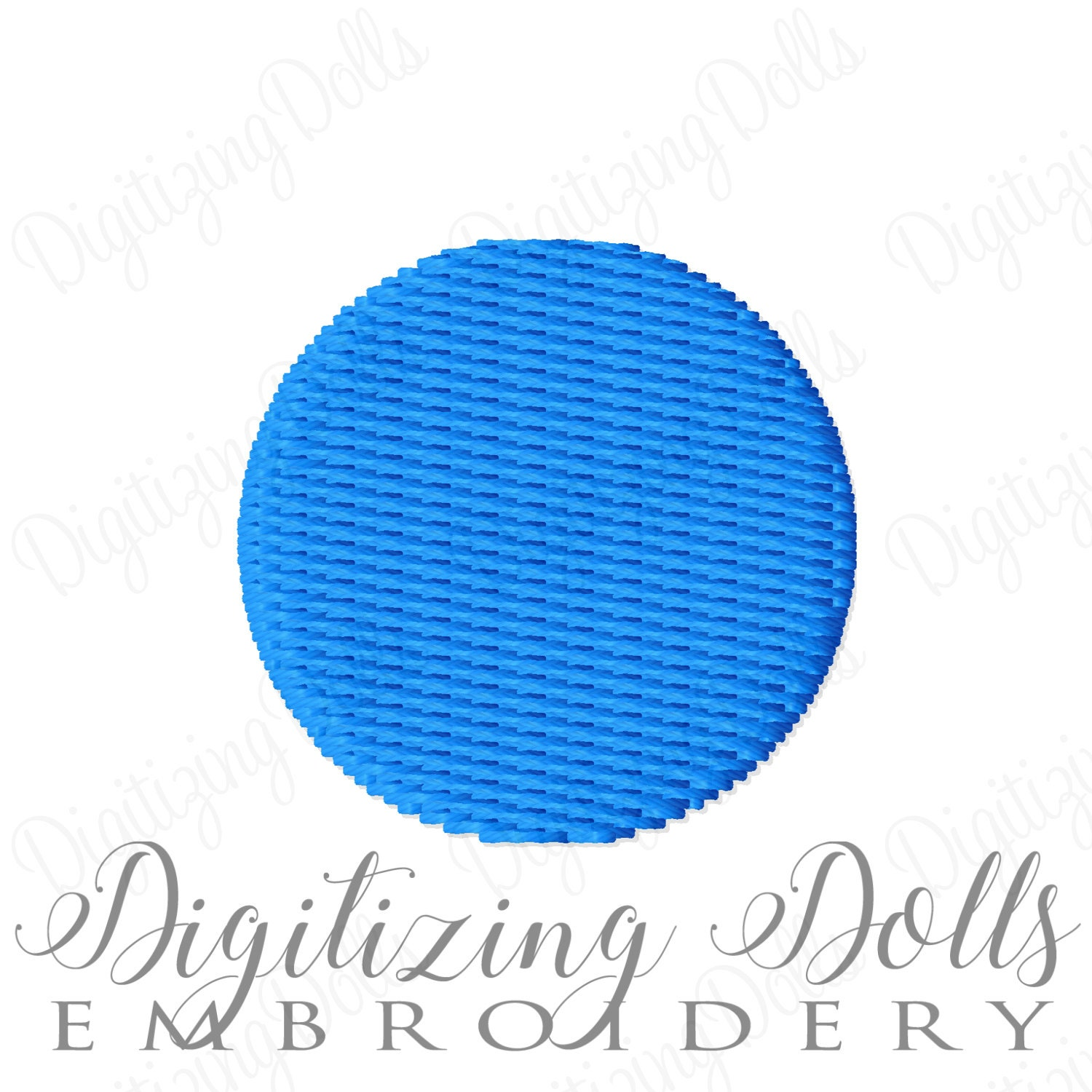 small tiny circle dot solid fill machine embroidery design 25