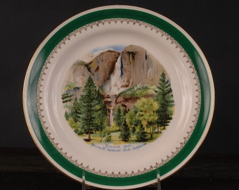 Vintage Homer Laughlin Yosemite Falls Plate