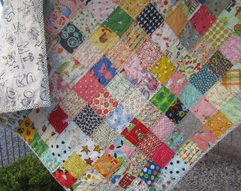 I Spy Patchwork Baby/Toddler Quilt......Ready to Ship