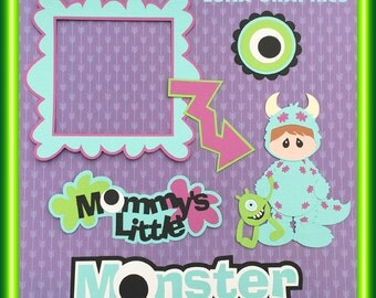Mommy's Little Monster Scrapbook 6 piece SET   Embellishments Paper Piecing for scrapbooking pages