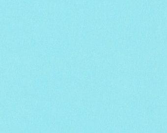 Aqua Jersey Knit  Fabric, Infinity Fabric, Apparel Fabric, Solid Blue Color Fabric, Jersey Fabric, Robert Kaufman Fabrics, Cotton/Lycra