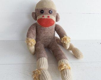 Vintage Handmade Sock Monkey
