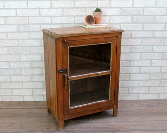 Bar Cabinet Reclaimed Cabinet Bedside Table Media Stand Kitchen Cabinet Indian Furniture Boho Industrial Cabinet Curio