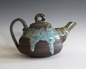 Ceramic Teapot, 16 oz, Handmade Stoneware Teapot, Handmade Teapot, ceramics and pottery, pottery teapot, wheel thrown teapot by Kazem Arshi