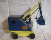 RESERVED for Mike Cranson  - Vintage 1950's Marx Pressed Steel Tin Lumar Contractors Power Steam Shovel