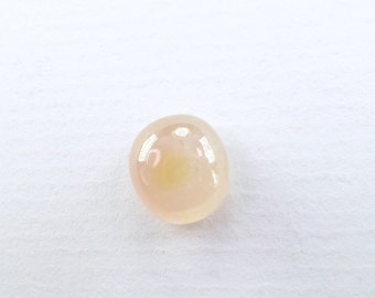 Peach SAPPHIRE. Peach Pink . Oval. Smooth and Glossy Cabochon. Great Ringstone. 1 pc. 6.61 cts. 10x9x6 mm (S3017)
