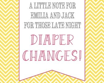 Diaper Change Message - Baby Shower Activity - Customizable