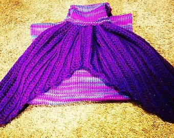 Adult/Teen/Child Mermaid Tail Blanket Pattern For Knitting Machines