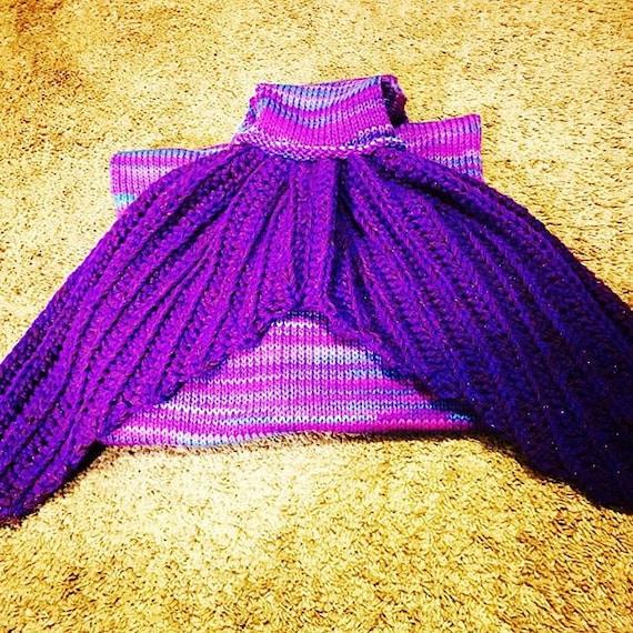 Knitting Pattern For Child s Mermaid Blanket : Adult/Teen/Child Mermaid Tail Blanket Pattern For Knitting