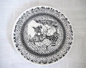 Mid century modern wall decor/ Bjorn Wiinblad large plate/ Springtime/ Denmark