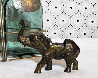 60% OFF Vintage Elephant Statue~Heavy Metal~Open Cavity Convertible Figurine