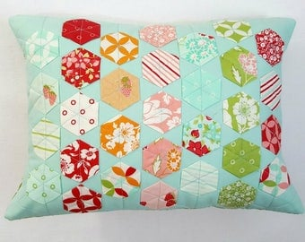 Quilted Modern Hexi Pillow Cover 12 x 16