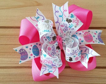 STORE CLOSING, Bunnies Bows & Bling, Easter, hair bow