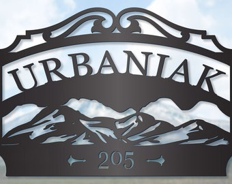 Mountain Personalized Outdoor Family Sign LMW-16-83