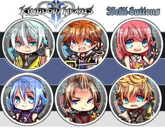 Kingdom hearts Button set (5)