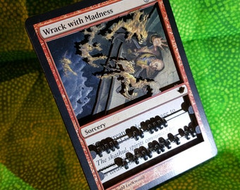 Layer Art- 3D- Life Counter: Wrack With Madness - Magic the Gathering