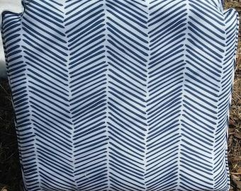 Freedom Arrows Large in Indigo custom chair pad Spoonflower fabric
