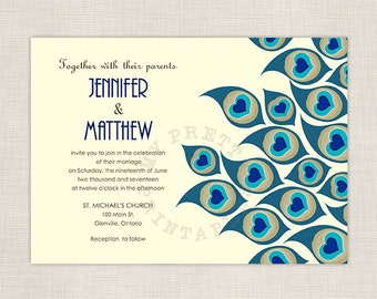 Peacock wedding - DIY printable