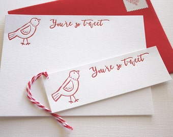 Sweet Love Letterpress Cards and Gift Tags, Love Cards