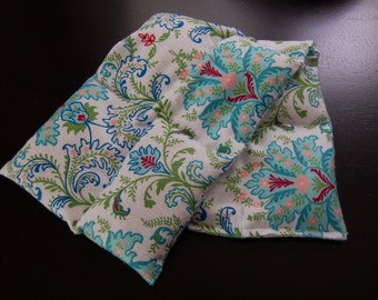 Rice Heating Pad / Ice Pack Medium, Blue Floral
