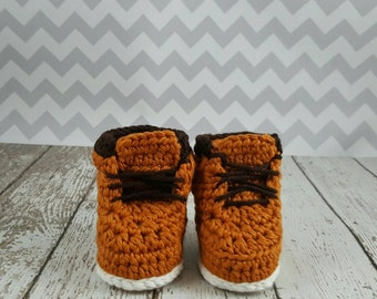 Baby boots / crib shoes / infant shoes / work boots / infant work boots / booties / infant crib shoes / baby work boots/ sitter set