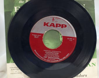 45 record Jane Morgan and the Troubadors Fascination Kapp Records from movie love in the afternoon