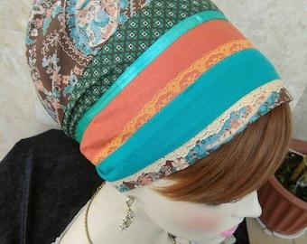 Non Wrap handmade Tichel,Sinar tichel,Mitpachat,Just tie in the back by oshrataDesignz
