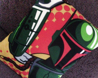 Boba Fett Star wars character print cushion cover pillow cotton gamer geek gift