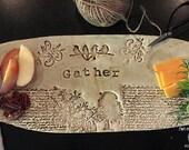 Gather Stoneware Cheese Tray