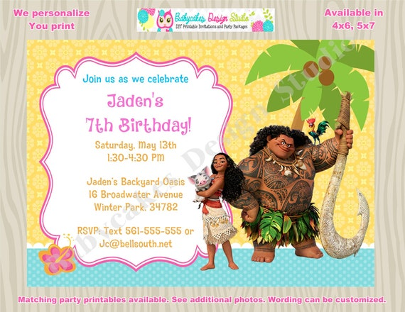 moana invitation template free - moana invitation moana birthday invitation invite moana party