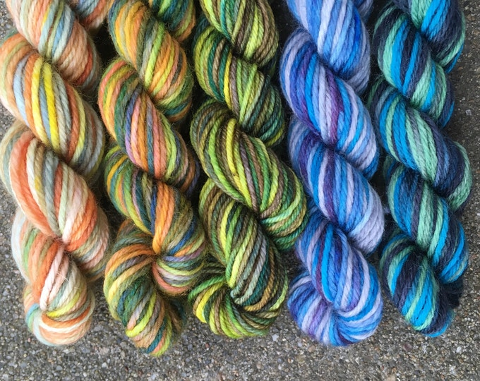 Doctor Who Yarn Mini Skein Set - 25 yard skeins - River Song