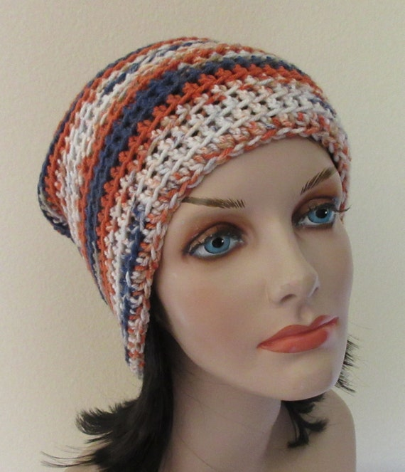 Crocheted Slouchy Hat Multi Colored Slouchy Hat Cold Weather Accessory Large Slouchy Hat Snow Playing