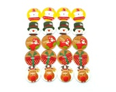 New 20(10pair) 12mm Handmade Christmas Glass Photo Cabochon PC825-M12 (CPC332)