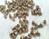 200pcs Bulk Antiqued Silver Earring Studs Back Stoppers 6x4mm A141